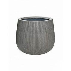 Кашпо Pottery Pots Fiberstone ridged dark grey, серого цвета pax M размер  Диаметр — 40 см