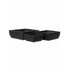Кашпо Pottery Pots Fiberstone sphere black, чёрного цвета (3) Длина — 50 см