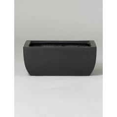 Кашпо Pottery Pots Fiberstone sphere black, чёрного цвета Длина — 40 см