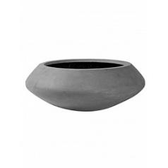 Кашпо Pottery Pots Fiberstone tara grey, серого цвета L размер  Диаметр — 80 см
