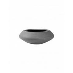 Кашпо Pottery Pots Fiberstone tara grey, серого цвета M размер  Диаметр — 60 см