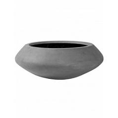 Кашпо Pottery Pots Fiberstone tara grey, серого цвета XL размер  Диаметр — 100 см