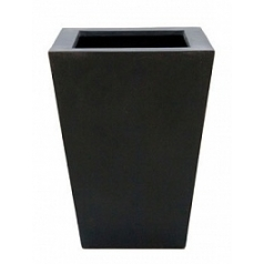 Кашпо Pottery Pots Fiberstone thom black, чёрного цвета L размер Длина — 37 см