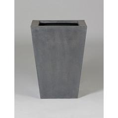 Кашпо Pottery Pots Fiberstone thom grey, серого цвета L размер Длина — 37 см