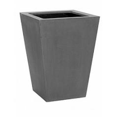 Кашпо Pottery Pots Fiberstone thom grey, серого цвета XL размер Длина — 50 см