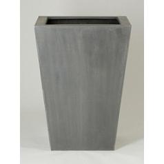 Кашпо Pottery Pots Fiberstone thom grey, серого цвета XXL размер Длина — 66 см