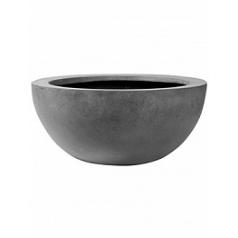 Кашпо Pottery Pots Fiberstone vic bowl grey, серого цвета L размер  Диаметр — 60 см
