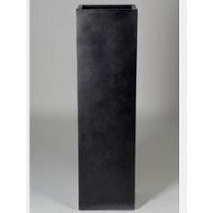 Кашпо Pottery Pots Fiberstone yong black, чёрного цвета Длина — 35 см