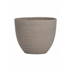 Кашпо Pottery Pots Refined coral S размер clouded grey, серого цвета  Диаметр — 18 см