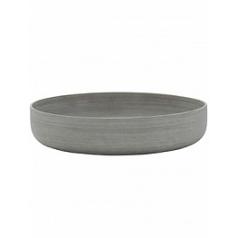 Кашпо Pottery Pots Refined eav low S размер clouded grey, серого цвета  Диаметр — 33 см