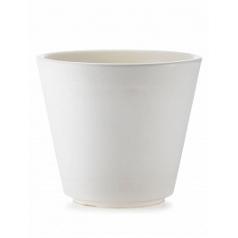 Кашпо TeraPlast Ribeira 80 white, белого цвета  Диаметр — 77 см