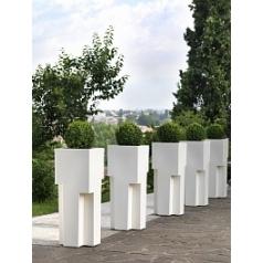 Кашпо TeraPlast New York 100 white, белого цвета Длина — 39 см