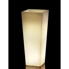 Светящееся Кашпо TeraPlast Pasubio Alto light outdoor 100 neutral Длина — 40 см