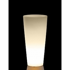 Светящееся Кашпо TeraPlast Schio Cono light outdoor 110 neutral  Диаметр — 45 см