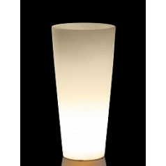 Светящееся Кашпо TeraPlast Schio Cono light outdoor 145 neutral  Диаметр — 55 см