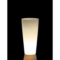 Светящееся Кашпо TeraPlast Schio Cono light outdoor 70 neutral  Диаметр — 30 см