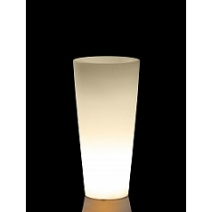 Светящееся Кашпо TeraPlast Schio Cono light outdoor 90 neutral  Диаметр — 40 см