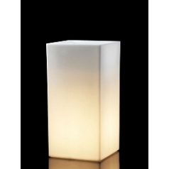 Светящееся Кашпо TeraPlast Schio Cubo Alto light outdoor 80 neutral Длина — 40 см