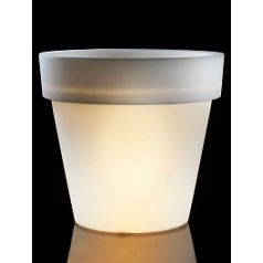 Светящееся Кашпо TeraPlast Standard One light outdoor 120 neutral  Диаметр — 120 см