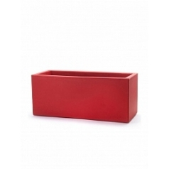 Кашпо TeraPlast Schio Cassa 100 cardinal red, красного цвета Длина — 100 см
