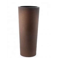 Кашпо TeraPlast Schio Cono 145 bronze, бронзового цвета  Диаметр — 55 см