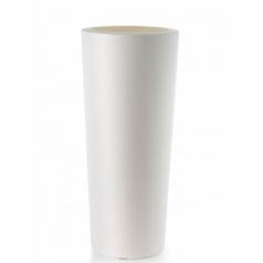 Кашпо TeraPlast Schio Cono 145 white, белого цвета  Диаметр — 55 см