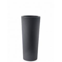 Кашпо TeraPlast Schio Cono 90 anthracite, цвет антрацит  Диаметр — 40 см