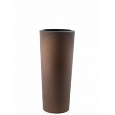 Кашпо TeraPlast Schio Cono 90 bronze, бронзового цвета  Диаметр — 40 см