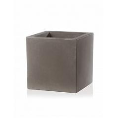 Кашпо TeraPlast Schio Cubo 50 cappuccino Длина — 50 см