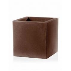 Кашпо TeraPlast Schio Cubo 60 bronze, бронзового цвета Длина — 58 см