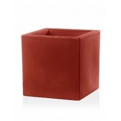 Кашпо TeraPlast Schio Cubo 60 cardinal red, красного цвета Длина — 58 см