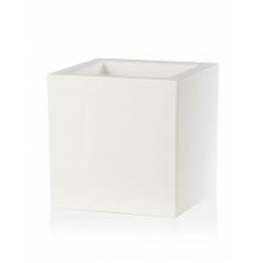 Кашпо TeraPlast Schio Cubo 60 white, белого цвета Длина — 58 см