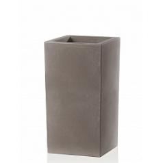 Кашпо TeraPlast Schio Cubo Alto 80 cappuccino, каппуччино Длина — 40 см