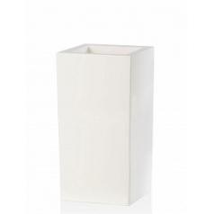 Кашпо TeraPlast Schio Cubo Alto 80 white, белого цвета Длина — 40 см