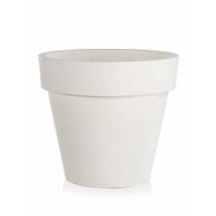 Кашпо TeraPlast Standard One 100 white, белого цвета  Диаметр — 100 см