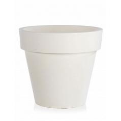 Кашпо TeraPlast Standard One 120 white, белого цвета  Диаметр — 120 см