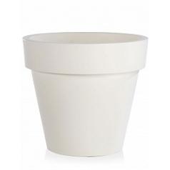 Кашпо TeraPlast Standard One 140 white, белого цвета  Диаметр — 140 см