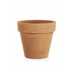 Кашпо TeraPlast Standard One 60 light brown, коричнево-бурого цвета  Диаметр — 60 см