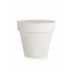 Кашпо TeraPlast Standard One 60 white, белого цвета  Диаметр — 60 см