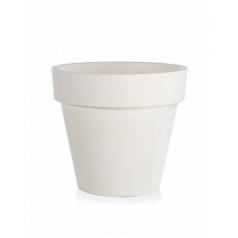 Кашпо TeraPlast Standard One 70 white, белого цвета  Диаметр — 70 см