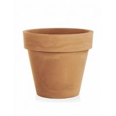 Кашпо TeraPlast Standard One 80 light brown, коричнево-бурого цвета  Диаметр — 80 см