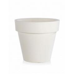 Кашпо TeraPlast Standard One 80 white, белого цвета  Диаметр — 80 см