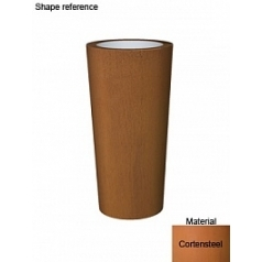 Кашпо Superline Cortenstyle® basic conica topper  Диаметр — 50 см Высота — 100 см