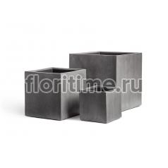 Кашпо Effectory Beton куб : тёмно-серый