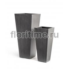 Кашпо Concretion Beton высокая трапеция: темно-серый