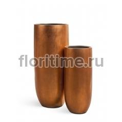Кашпо Effectory Metal высокий округлый конус : медь