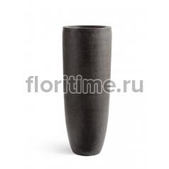 Кашпо Effectory Stone высокий конус: темно-серый камень