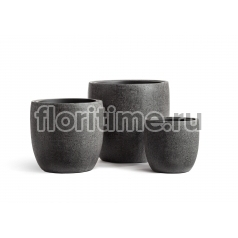 Кашпо Concretion Stone округлый конус: темно-серый камень