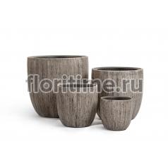 Кашпо Effectory Wood округлый конус : беленый дуб