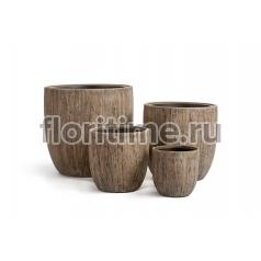 Кашпо Effectory Wood округлый конус : светлый дуб